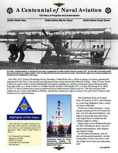 A Centennial of Naval Aviation 100 Years of Progress and Achievement United States Navy United States Marine Corps