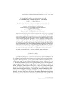 Acta Zoologica Academiae Scientiarum Hungaricae 52 (1), pp. 81–96, 2006  SPATIAL ORGANIZATION AND HOME RANGE OF APODEMUS FLAVICOLLIS AND A. AGRARIUS ON MT. AVALA, SERBIA VUKIĆEVIĆ-RADIĆ, O.1, MATIĆ, R.1, KATARANOVS
