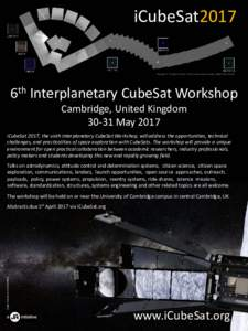 iCubeSat2017 Voyager 1 'Family Portrait' of the solar system taken 40AU from Earth 6th Interplanetary CubeSat Workshop Cambridge, United KingdomMay 2017