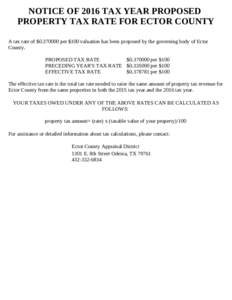 Ector County Property Tax Search