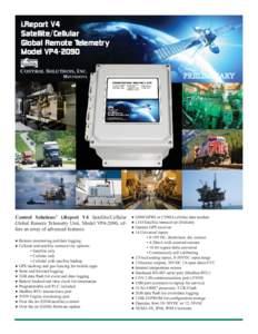 i.Report V4 Satellite/Cellular Global Remote Telemetry Model VP4-2090 CONTROL SOLUTIONS, INC. MINNESOTA