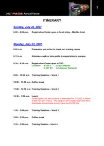 Microsoft WordPACE Annual Forum Printed Itinerary.doc