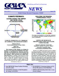 Global Energy and Water Cycle Experiment  NEWS Vol. 12, No. 3
