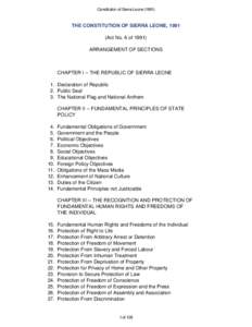 local government act of sierra leone Provision for local government and therefore the local government act 2004  provides the main  the local government system in sierra leone.