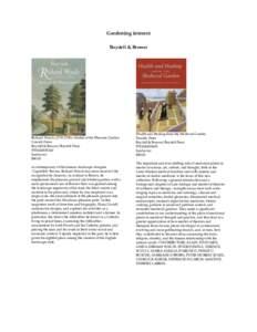 Gardening interest Boydell & Brewer Richard Woods): Master of the Pleasure Garden Cowell, Fiona Boydell & Brewer/Boydell Press