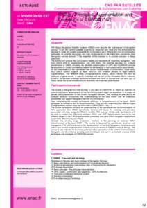 CNS PAR SATELLITE Communication,Navigation&SurveillanceparSatellite ACTUALISÉ réf.WORKGNSS CodeOACI179