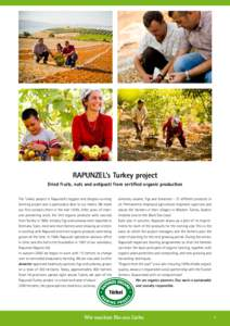 RAPUNZEL's Turkey project Dried fruits, nuts and antipasti from certified organic production The Turkey project is Rapunzel's biggest and longest-running farming project and is particularly dear to our hearts. We mad