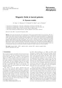 Astronomy & Astrophysics A&A 380, 55–DOI: :