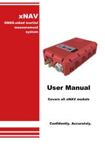 xNAV xF GNSS-aided inertial measurement system