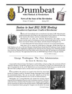 Drumbeat with Flintlock & Powderhorn News of the Sons of the Revolution Volume 29 Number 1