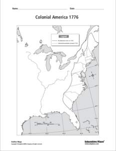 Colonial AmericaLegend Proclamation Line of 1763 Colonial boundaries around 1776