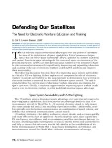Defending Our Satellites: The Need for Electronic Warfare Education and Training