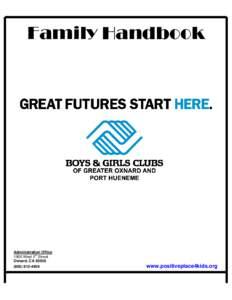 Family Handbook  Administration Office th 1900 West 5 Street Oxnard, CA 93030
