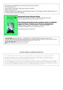 This article was downloaded by: [University of Denver, Penrose Library] On: 28 November 2010 Access details: Access Details: [subscription numberPublisher Taylor & Francis Informa Ltd Registered in England an
