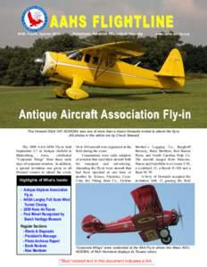 AAHS FLIGHTLINE American Aviation Historical Society #169, Fourth Quarterwww.aahs-online.org