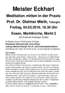 Meditation idmarch document search engine for Dietmar mieth