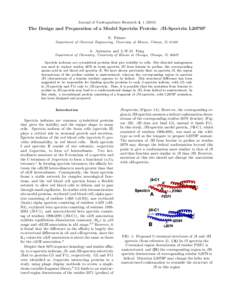 Journal of Undergraduate Research 4, The Design and Preparation of a Model Spectrin Protein: βII-Spectrin L2079P N. Palmer Department of Chemical Engineering, University of Illinois, Urbana, IL 61801