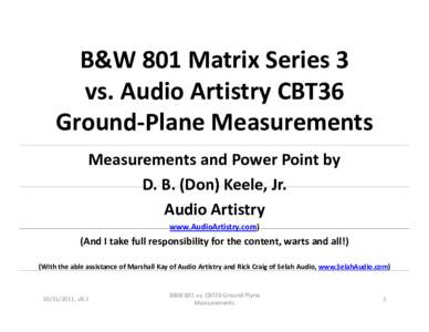 Microsoft PowerPoint - B&W 801 vs. CBT36 Ground-Plane Measurements v8.1.ppt [Compatibility Mode]