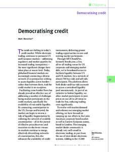 n Chapter 4 Democratising credit Democratising credit Mark Monahan*