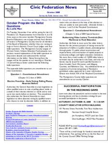 Civic Federation News  MCCF Newsletter—June 2008 County Executive Pays Us a