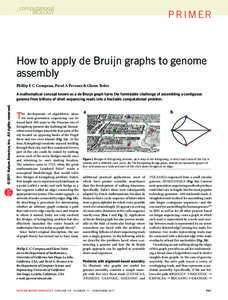 How to apply de Bruijn graphs to genome assembly