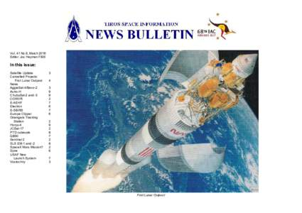 Vol. 41 No.6, March 2016 Editor: Jos Heyman FBIS In this issue: Satellite Update Cancelled Projects: