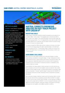 CASE STUDY: AUSTRAL DISEÑOS INDUSTRIALES, ALGERIA  FACTS AT A GLANCE Company: Austral Diseños Industriales Website: www.adinsa.com.ar Description: Austral Diseños Industriales