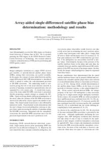 Array-aided Single-Differenced Satellite Phase Bias Determination: Methodology and Results