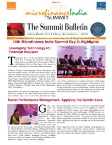 11  10th Microfinance India Summit Day 2: Highlights Leveraging Technology for Financial Inclusion