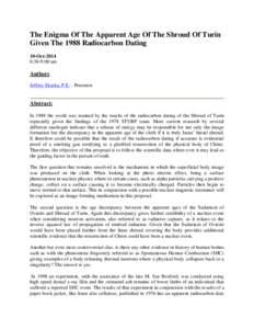 the shroud of turin a critical summary pdf