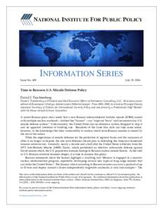 Issue NoINFORMATION SERIES July 25, 2016
