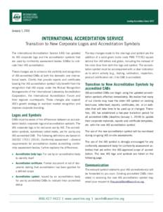 INTERNATIONAL ACCREDITATION SERVICE Leading Accreditors Since 1975