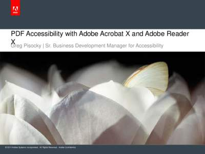 PDF Accessibility with Acrobat X