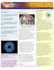 About SGTW | Subscribe | Archive | Contact SGTW  August 17, 2005 Calendar/Meetings