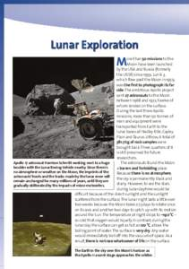 Lunar Exploration M ore than 50 missions to the Moon have been launched by the USA and Russia (formerly