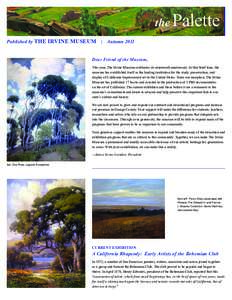 the Published by THE IRVINE MUSEUM Palette  | Autumn 2011