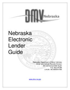 Electronic lien and title idmarch document search engine for State of nebraska department of motor vehicles