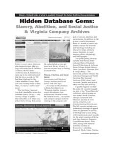 Adam Matthews Database IG.qxd:51 PM
