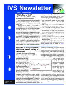 IVS Newsletter Issue 4, December 2002 that improvements can be made but these were not factored into the schedule because we need to do a conservative plan until improvements are definite. Summarized by type of session,