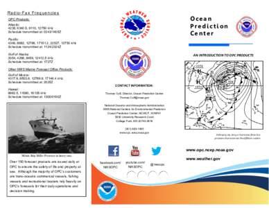 Radio-Fax Frequencies  Ocean Prediction Center