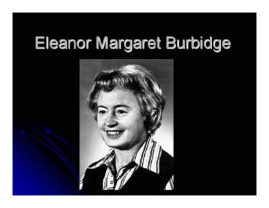 Margaret Burbidge Margaret Burbidge IDMARCH Document Search Engine