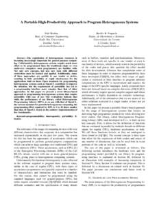A Portable High-Productivity Approach to Program Heterogeneous Systems