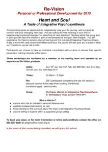 Re-vision centre for integrative psychosynthesis