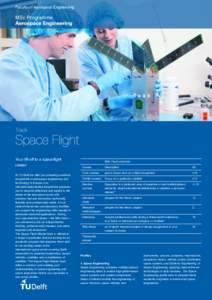 FacultyofAerospaceEngineering  MScProgramme Yourlift-offtoaspaceflight career