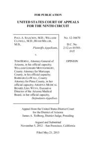 FOR PUBLICATION  UNITED STATES COURT OF APPEALS FOR THE NINTH CIRCUIT  PAUL A. ISAACSON, M.D.; WILLIAM