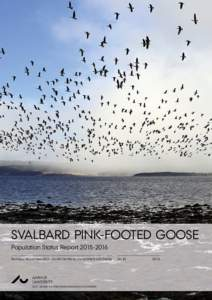 SVALBARD PINK-FOOTED GOOSE Population Status ReportTechnical Report from DCE – Danish Centre for Environment and Energy AU