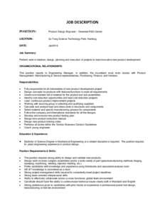 Microsoft Word - Product design engineer_Senior_20160105.doc