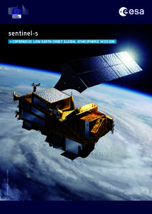 sentinel-5  © ESA 2015 | Illustration: P. CARRIL → cOpERnicuS lOw EARth ORbit GlObAl AtMOSphERic MiSSiOn