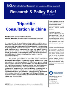 Institute for Research on Labor and Employment  Research & Policy Brief Number 9 – MayTripartite