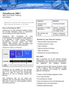Real-time Flight Intelligence Solutions Real-time Flight Intelligence Solutions  FlyteComm
